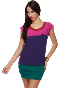 Collective Concepts Perfect Parfait Color Block Top