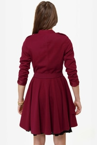 Darling Helena Burgundy Frock Coat at Lulus.com!