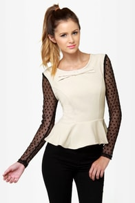 Darling Natalia Black and Beige Top