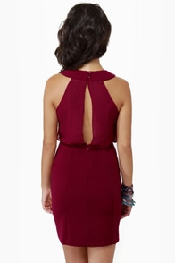 Celebutante Burgundy Dress at Lulus.com!