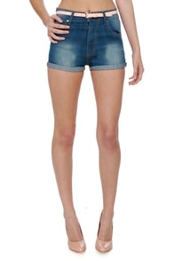 Cheap Monday Short Skin High-Waisted Jean Shorts at Lulus.com!
