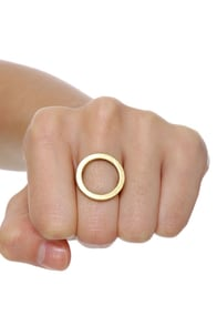 Cheap Monday Hole Ring Gold Ring 17 00
