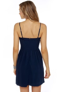 Tender Kisses Navy Blue Dress at Lulus.com!