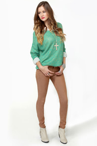Little Secrets Teal and Gold Sweater at Lulus.com!