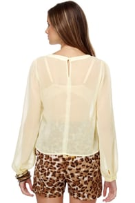 Enchanted Spirit Long Sleeve Cream Top