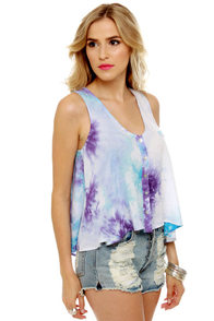 Cosmic Storm Purple Tie-Dye Top at Lulus.com!