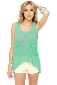 Ikebana Sheer Mint Top