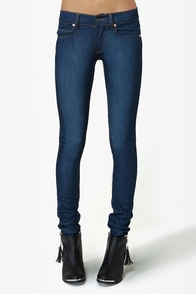 Cheap Monday Zip Low Medium Wash Skinny Jeans at Lulus.com!