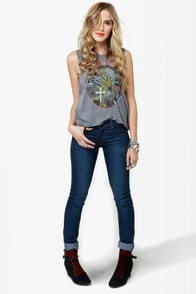 Chaser Iron Maiden Grey Muscle Tee at Lulus.com!