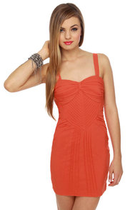 Brave New Girl Coral Orange Dress
