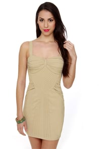 Brave New Girl Taupe Dress