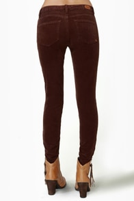 Dittos Jessica Mid-Rise Chocolate Brown Corduroy Pants at Lulus.com!