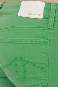 Level 99 Janice Ultra Skinny Green Jeggings
