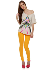 Level 99 Janice Ultra Skinny Yellow Jeggings