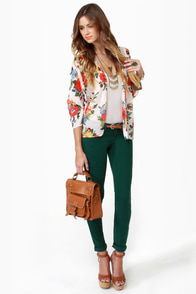Level 99 Janice Ultra Skinny Emerald Green Jeggings