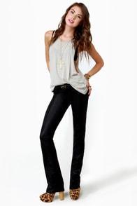 Level 99 Sash Slim Boot Cut Black Jeggings