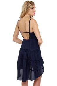 Cloud City Navy Blue Dress at Lulus.com!