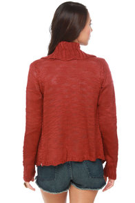 Element Eden Lariat Red Sweater at Lulus.com!