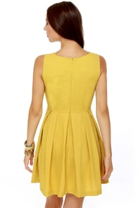 Born Ready Mustard Yellow Dress at Lulus.com!