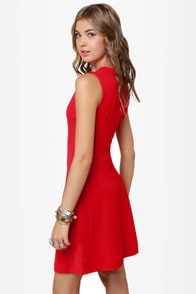 What It Seams Sleeveless Red Dress at Lulus.com!