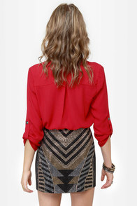Jewels Rush In Beaded Mini Skirt at Lulus.com!