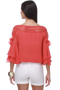 El Toreador Coral Red Top