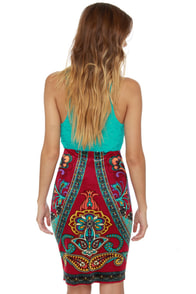 The Velveteen Radness Print Pencil Skirt at Lulus.com!