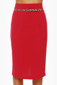 Pencil Me In Red Pencil Skirt at Lulus.com!