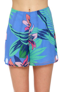Miami Spice Floral Print Shorts at Lulus.com!