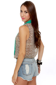 Meow and Then Sleeveless Leopard Print Top at Lulus.com!