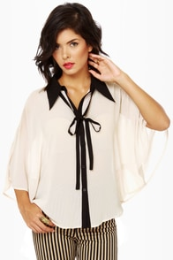 Cape Envy Cream Cape Top at Lulus.com!