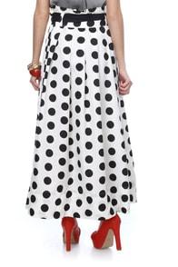Around the Clock Polka Dot Maxi Skirt
