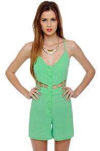 Be My Boo Mint Green Romper