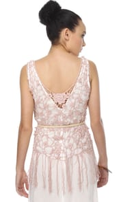 Maid Marian Pink Lace Top