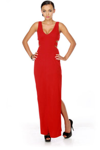 Jessica Rabbit's Closet Red Maxi Dress