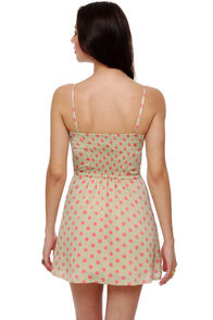 Grand Dotter Beige Polka Dot Dress at Lulus.com!