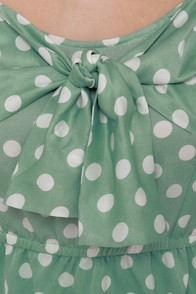 Grand Dotter Mint Green Polka Dot Dress at Lulus.com!