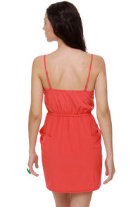Bells of Ireland Coral Dress at Lulus.com!