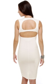 Vixen Mixer Midi White Dress at Lulus.com!