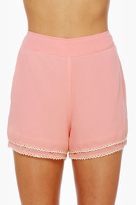 Susie Cutie Peach High-Waisted Shorts at Lulus.com!
