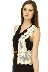 The New Romance Lace Vest