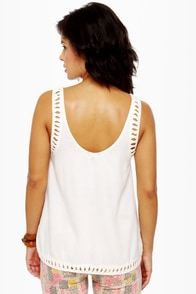 Hurley Indie Ivory Tank Top at Lulus.com!