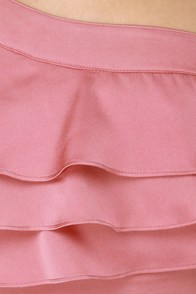 Belle Boutonni�re One Shoulder Pink Dress