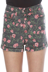 Insight Arosed Floral Denim Shorts