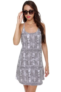 Insight Tribal Grunge Print Dress