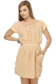 Vineyard Tours Taupe Dress