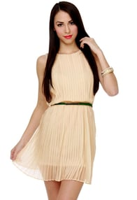 You Com-pleat Me Cream Dress