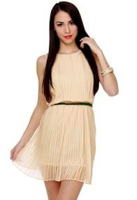 You Com-pleat Me Cream Dress