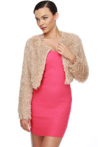 Fur Get Me Not Taupe Crop Jacket