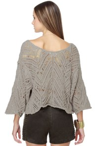 See You Next Fall Taupe Crop Top